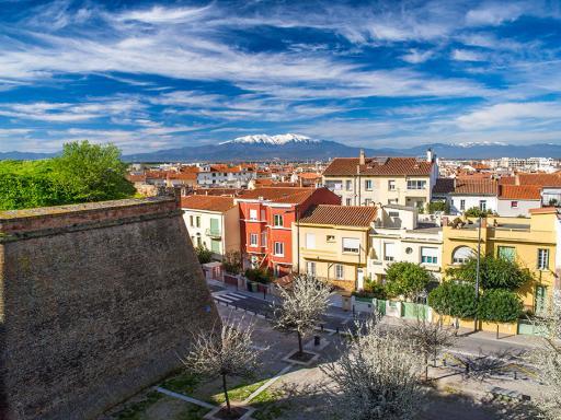 Perpignan, vue du Palais des Rois de Majorque